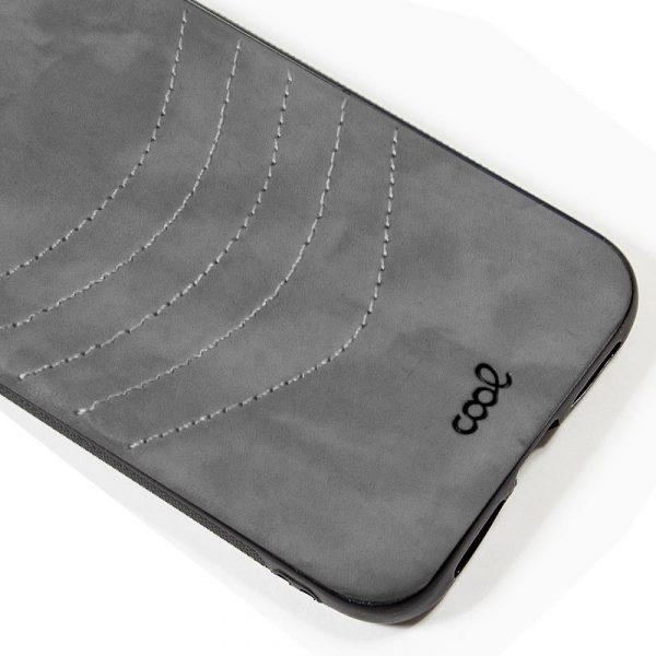 carcasa iphone 11 pro max leather bordado gris2