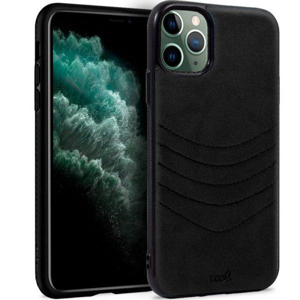 carcasa iphone 11 pro max leather bordado negro1