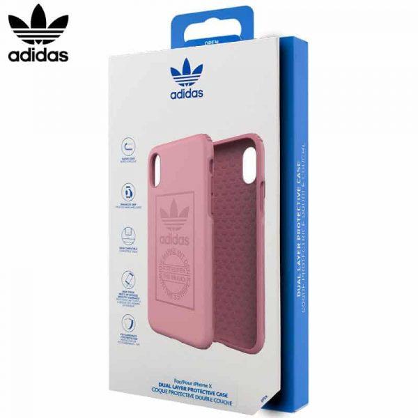 Carcasa iPhone X / iPhone XS Licencia Adidas Hard Rosa 1