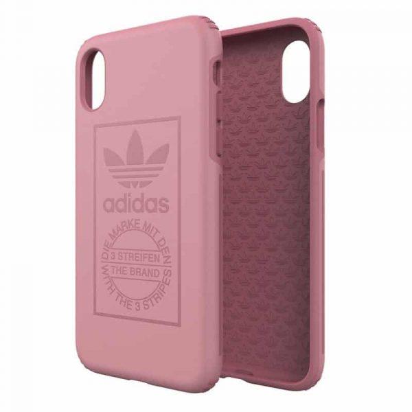 Carcasa iPhone X / iPhone XS Licencia Adidas Hard Rosa 3