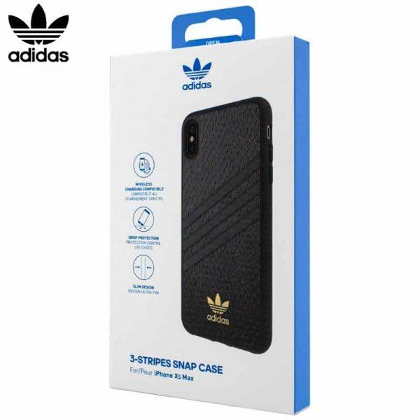 Carcasa iPhone XS Max Licencia Adidas Logo Dorado 1