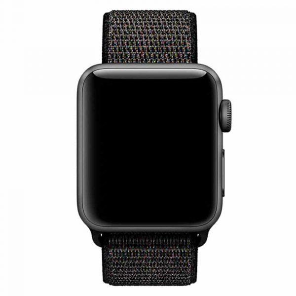 Correa Apple Watch Series 1 / 2 / 3 / 4 / 5 (38 / 40 mm) Loop Nylon Negra 2