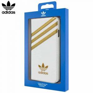 funda flip cover iphone 6 6s licencia adidas blanco2