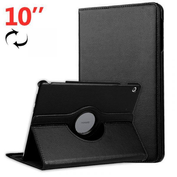 Funda Huawei Mediapad M5 Lite Polipiel Liso Negro 10.1 pulg 1