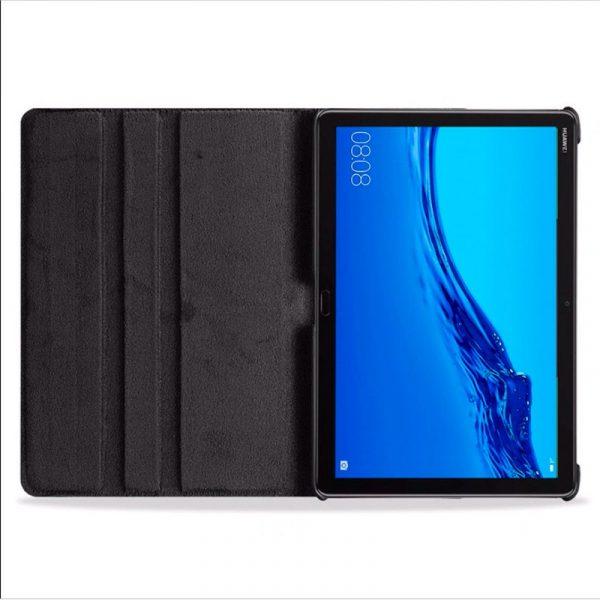Funda Huawei Mediapad M5 Lite Polipiel Liso Negro 10.1 pulg 2