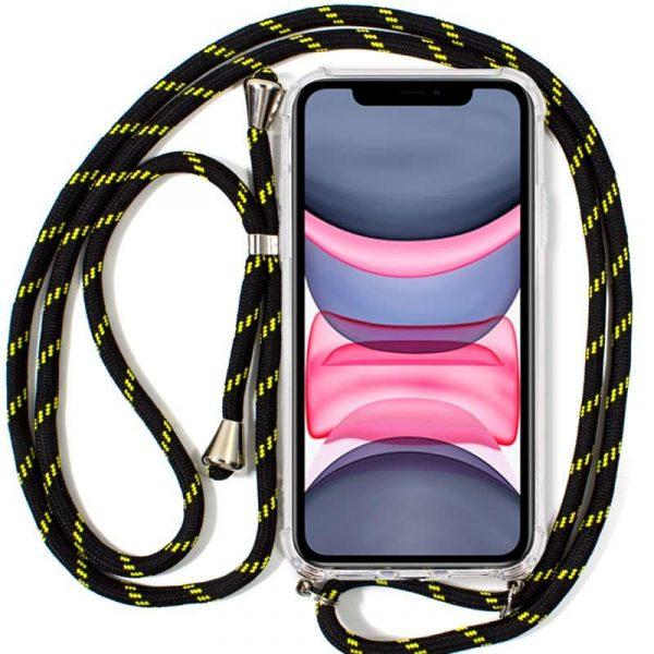 Carcasa iPhone 11 Cordón Negro-Amarillo 1