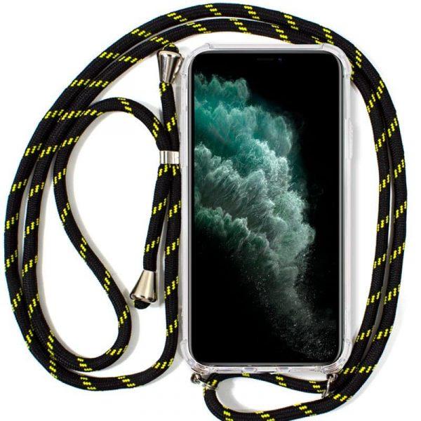 carcasa iphone 11 pro max cordon negro amarillo1