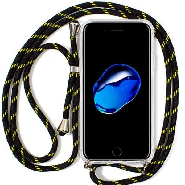 Carcasa iPhone 7 Plus / iPhone 8 Plus Cordón Negro-Amarillo 1