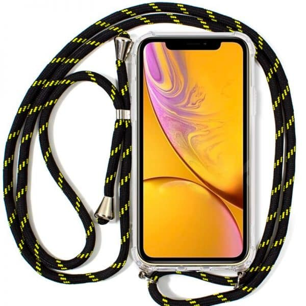 Carcasa iPhone XR Cordón Negro-Amarillo 1