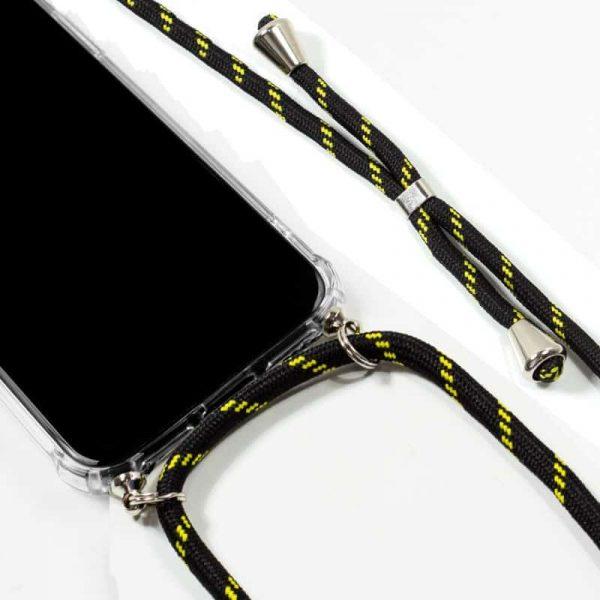 Carcasa iPhone XR Cordón Negro-Amarillo 2