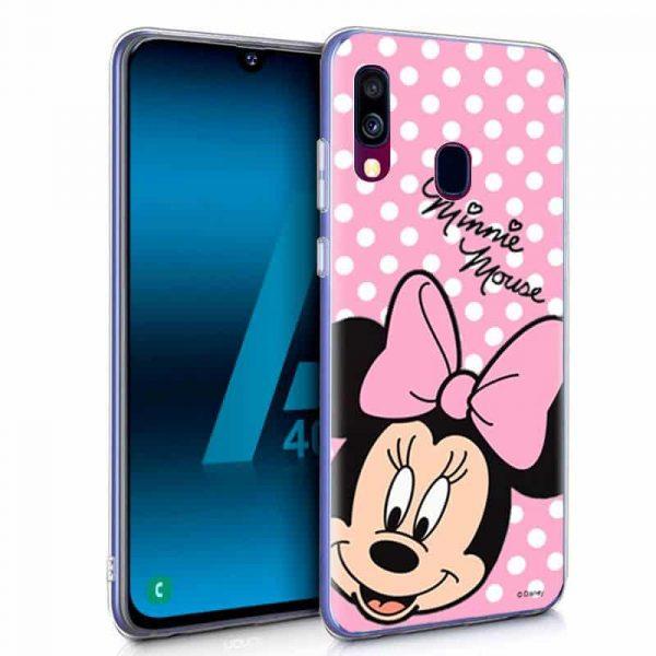 Carcasa Samsung Galaxy A40 Licencia Disney Minnie 1