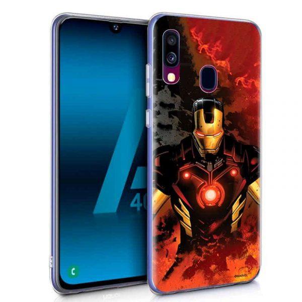 Carcasa Samsung Galaxy A40 Marvel Iron Man 1