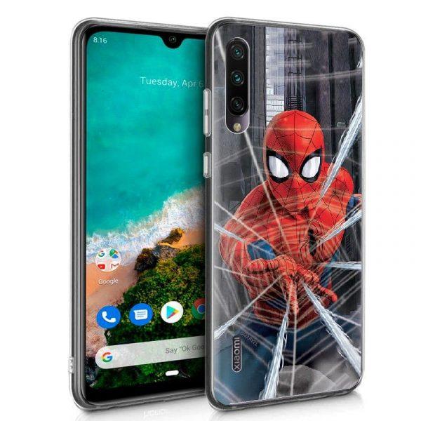 Carcasa Xiaomi Mi A3 Licencia Marvel Spider-Man 1