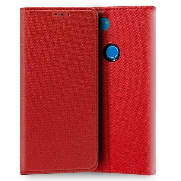 Funda Con Tapa Xiaomi Mi 8 Lite Liso Rojo 1