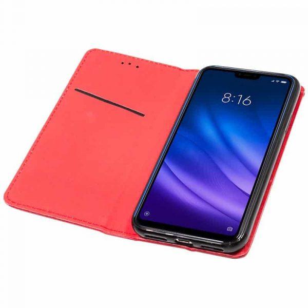 Funda Con Tapa Xiaomi Mi 8 Lite Liso Rojo 2