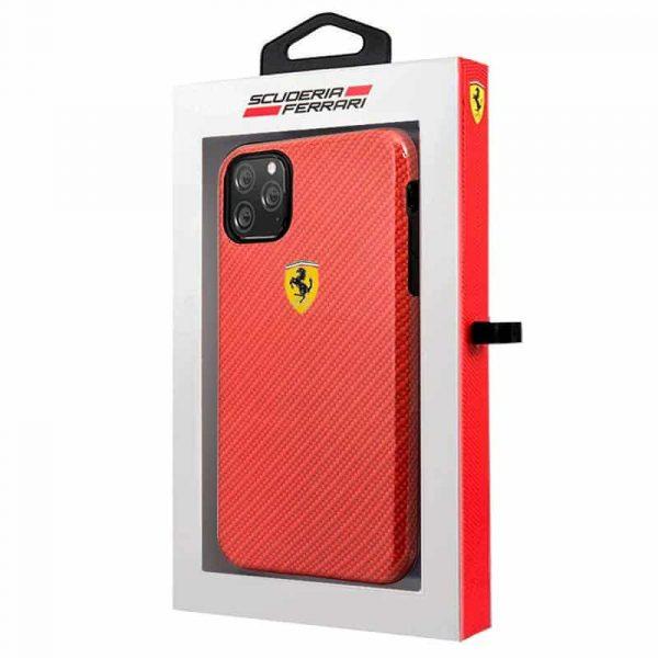 carcasa iphone 11 pro max licencia ferrari hard rojo2