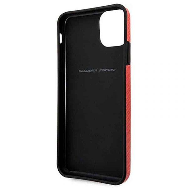 carcasa iphone 11 pro max licencia ferrari hard rojo3