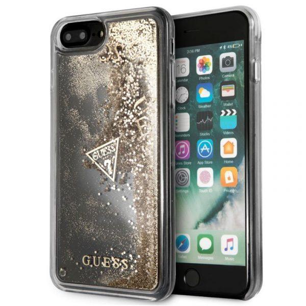 Carcasa iPhone 7 Plus / 8 Plus Licencia Guess Liquid Dorado 1