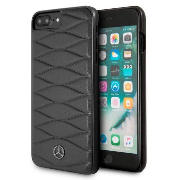 Carcasa iPhone 7 Plus / 8 Plus Licencia Mercedes-Benz Piel Negro 1