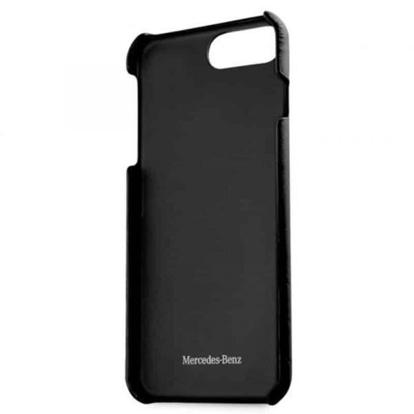 Carcasa iPhone 7 Plus / 8 Plus Licencia Mercedes-Benz Piel Negro 3