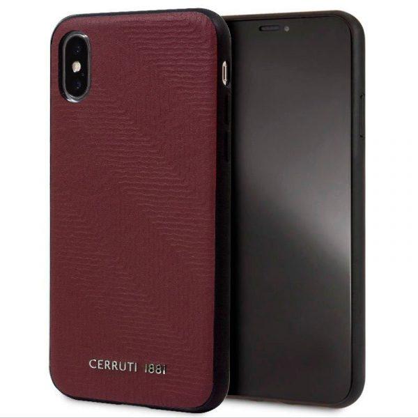 Carcasa iPhone X / iPhone XS Licencia Cerruti Piel Rojo 1