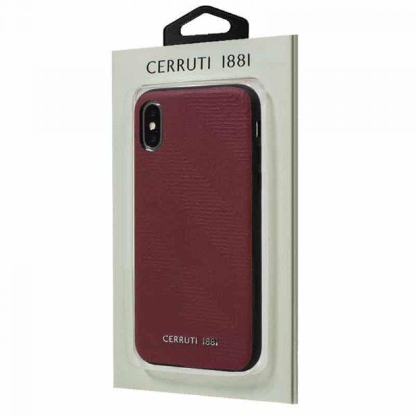 Carcasa iPhone X / iPhone XS Licencia Cerruti Piel Rojo 2