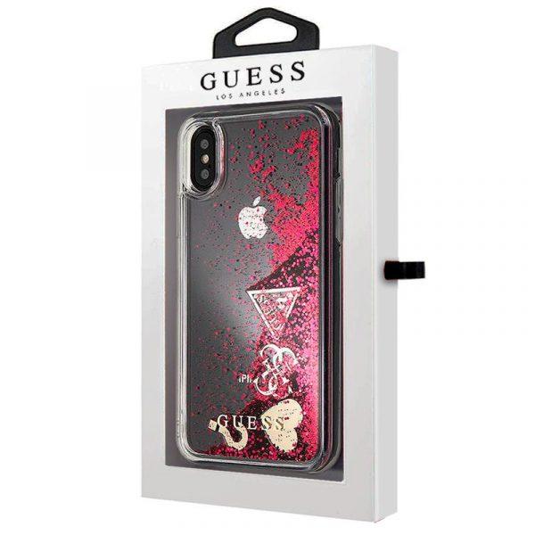 Carcasa iPhone X / iPhone XS Licencia Guess Liquid Rojo 2