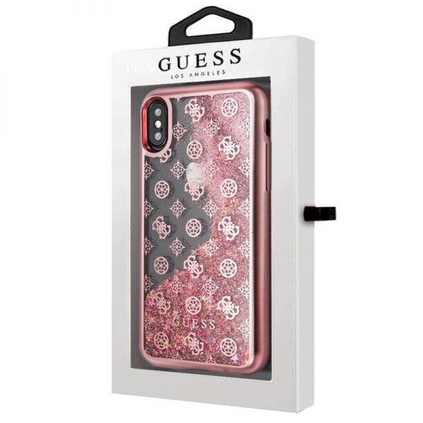 Carcasa iPhone X / iPhone XS Licencia Guess Liquid Rosa 2