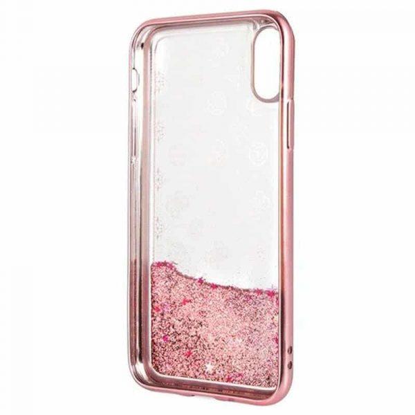 Carcasa iPhone X / iPhone XS Licencia Guess Liquid Rosa 3