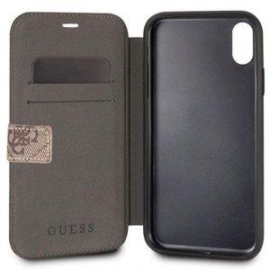 Funda Con Tapa iPhone X / iPhone XS Licencia Guess Tela 5