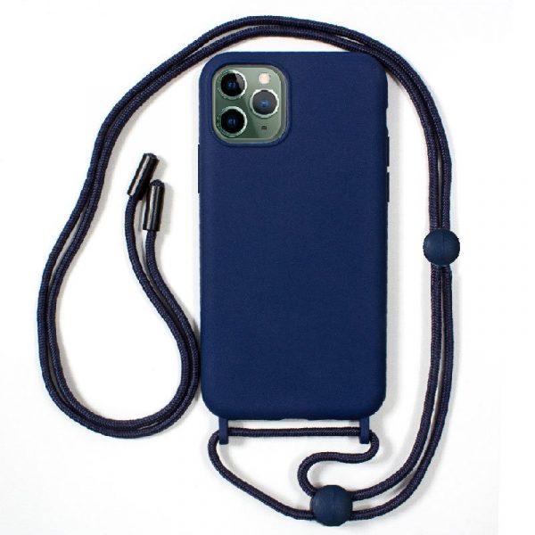 carcasa iphone 11 pro max cordon liso azul 1