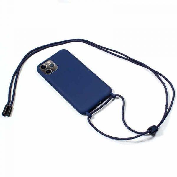 carcasa iphone 11 pro max cordon liso azul 2