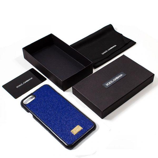carcasa iphone 7 iphone 8 licencia dolce and gabbana liso azul 2