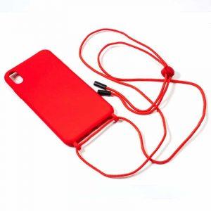 carcasa iphone xs max cordon liso rojo 2