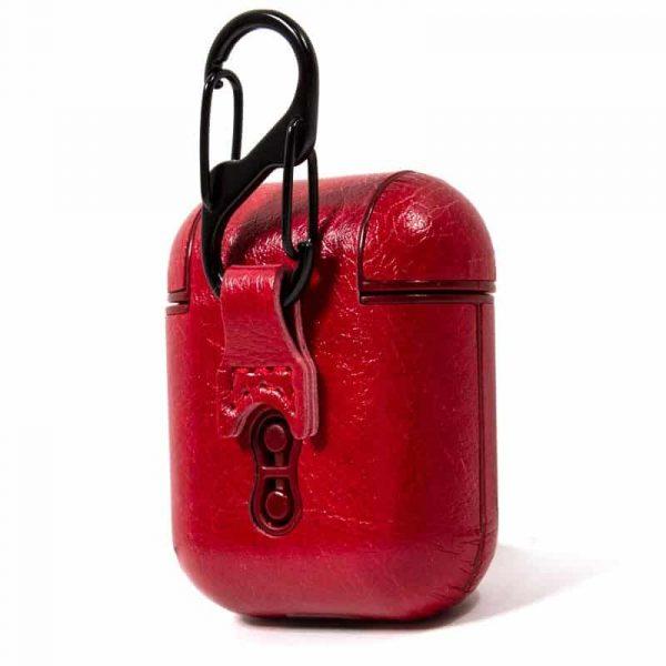 funda soft apple airpods leather rojo 3