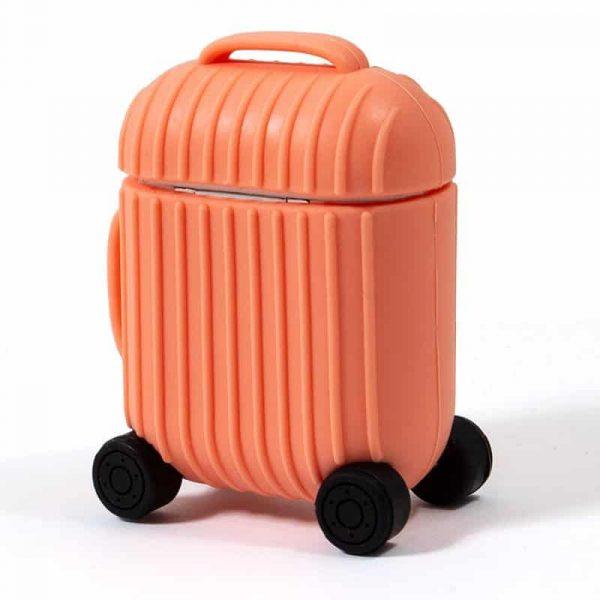 funda soft silicona apple airpods auriculares cool air v2 naranja 3