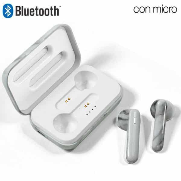 auriculares stereo bluetooth dual pod cool style marmol 1