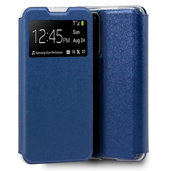 funda flip cover huawei p40 liso azul 1