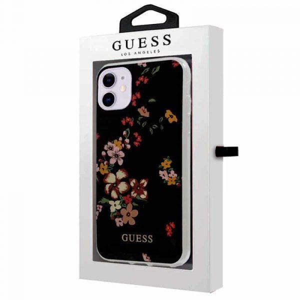 carcasa iphone 11 licencia guess flores negro 2