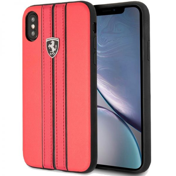 carcasa iphone xr licencia ferrari piel rojo 1