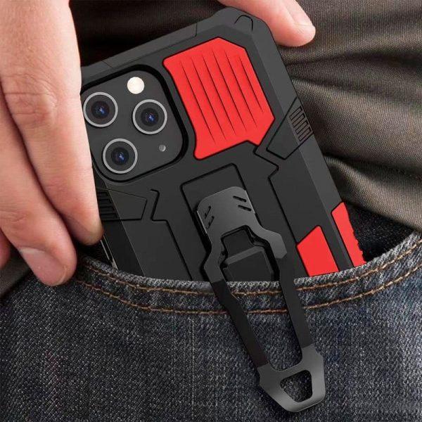 carcasa iphone 12 mini hard clip rojo 3