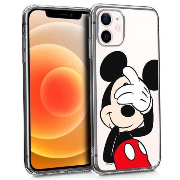 carcasa iphone 12 mini licencia disney mickey transparente 1
