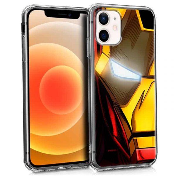 carcasa iphone 12 mini licencia marvel iron man 1