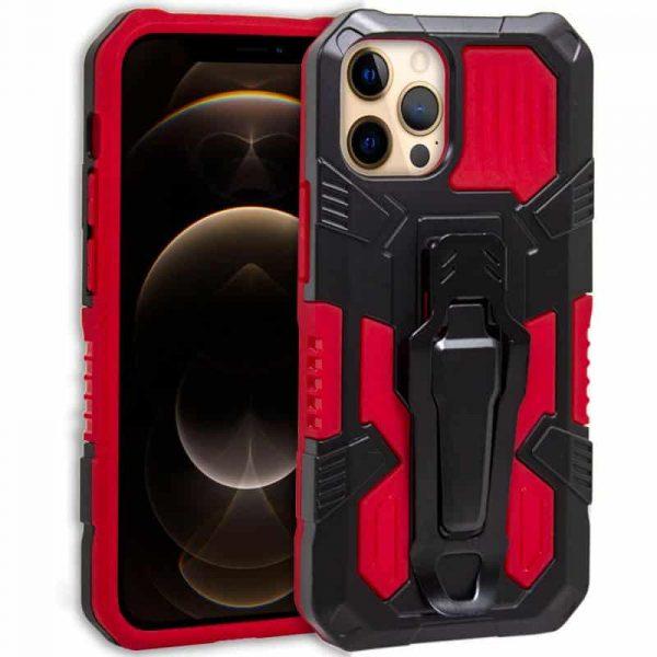 carcasa iphone 12 pro max hard clip rojo 1
