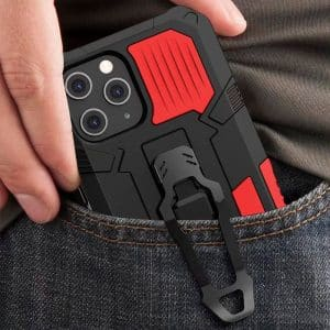 carcasa iphone 12 pro max hard clip rojo 2