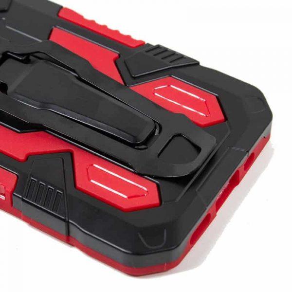 carcasa iphone 12 pro max hard clip rojo 4