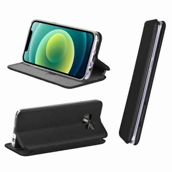 funda flip cover iphone 12 12 pro elegance negro 2