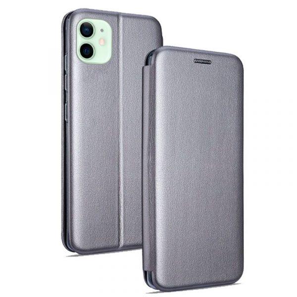 funda flip cover iphone 12 12 pro elegance plata 1
