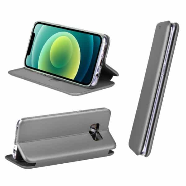 funda flip cover iphone 12 12 pro elegance plata 2
