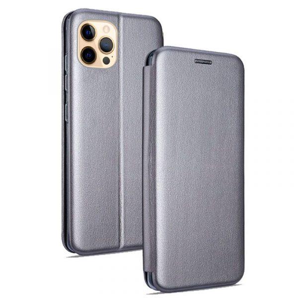 funda flip cover iphone 12 pro max elegance plata 1
